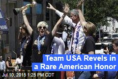 Team USA Revels in a Rare American Honor
