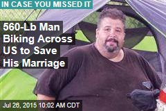 560-Lb Man Biking Across US to Save His Marriage