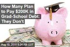 How Many Plan to Pay $200K in Grad-School Debt: They Don't