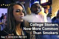 College Stoners Now More Common Than Smokers