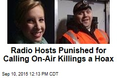 Radio Hosts Punished for Calling On-Air Killings a Hoax
