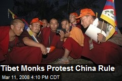 Tibet Monks Protest China Rule