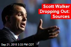 Scott Walker Dropping Out: Sources