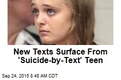 New Texts Surface From 'Suicide-by-Text' Teen