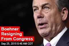 Boehner Resigning From Congress