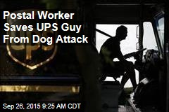 Postal Worker Saves UPS Guy From Dog Attack