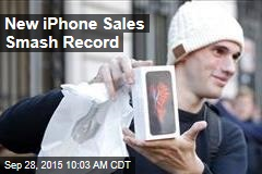 New iPhone Sales Smash Record