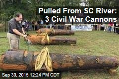 Pulled From SC River: 3 Civil War Cannons