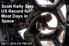 Scott Kelly Sets US Record for Most Days in Space