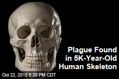 Plague Found in 5,000-Year-Old Human Skelton