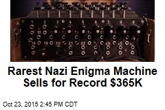 Rarest Nazi Enigma Machine Sells for Record $365K