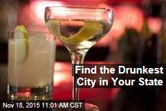 Find the Drunkest City in Your State