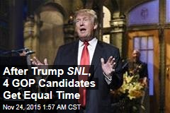 After Trump SNL , 4 GOP Candidates Get Equal Time