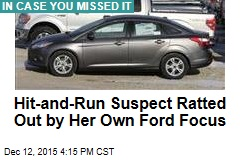 Hit-and-Run Suspect Ratted Out by Her Own Ford Focus