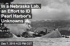 In a Nebraska Lab, an Effort to ID Pearl Harbor's Unknowns