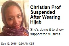 Christian College Prof Suspended for Wearing Hijab