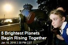 5 Brightest Planets Begin Rising Together
