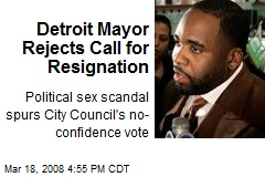 Detroit Mayor Rejects Call for Resignation