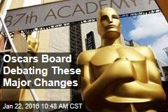 Oscars Board Debating These Major Changes