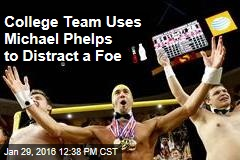 College Team Uses Michael Phelps to Distract a Foe