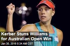Kerber Stuns Williams for Australian Open Win