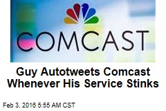 Guy Autotweets Comcast Whenever His Service Stinks