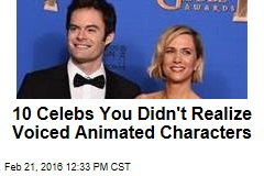 10 Celebs You Didn't Realize Voiced Animated Characters