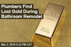 Plumbers Find Lost Gold During Bathroom Remodel