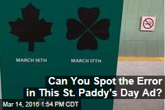Can You Spot the Error in This St. Paddy's Day Ad?