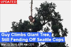 Guy Up 80-Foot Tree Stumps Seattle Cops