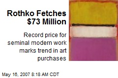 Rothko Fetches $73 Million
