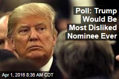 Poll: Trump Would Be Most Disliked Nominee Ever