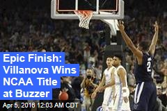 Villanova Stuns Tar Heels for NCAA Title
