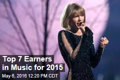 Top 7 Earners in Music for 2015