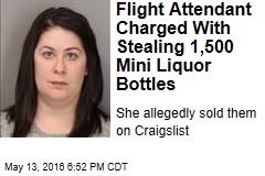 Flight Attendant Charged With Stealing 1,500 Mini Liquor Bottles