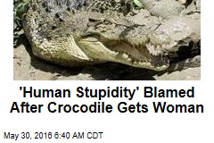 'Human Stupidity' Blamed After Crocodile Gets Woman