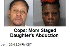 Cops: Mom Staged Daughter's Abduction