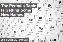 The Periodic Table Is Getting Some New Names