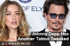 Johnny Depp Has Another Tattoo Tweaked