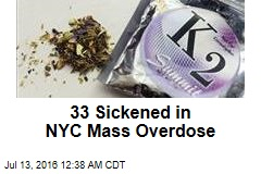 33 Sickened in NYC Mass Overdose