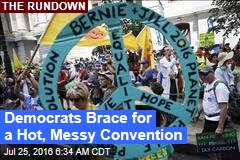 Democrats Brace for a Hot, Messy Convention