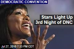 Stars Light Up 3rd Night of DNC