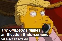 The Simpsons Makes an Election Endorsement