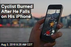 Cyclist Burned After He Falls on His iPhone