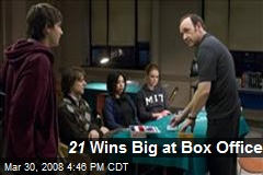 21 Wins Big at Box Office