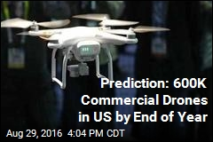 Prediction: 600K Commercial Drones in US by End of Year