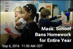 Mass. School Bans Homework for Entire Year