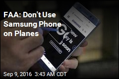 FAA: Don't Use Samsung Phone on Planes