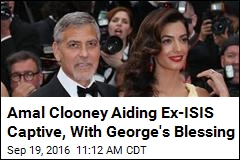 Amal Clooney Aiding Ex-ISIS Captive, With George's Blessing