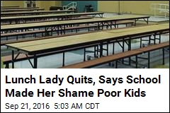 School Cafeteria Worker Quits Over 'Lunch Shaming'